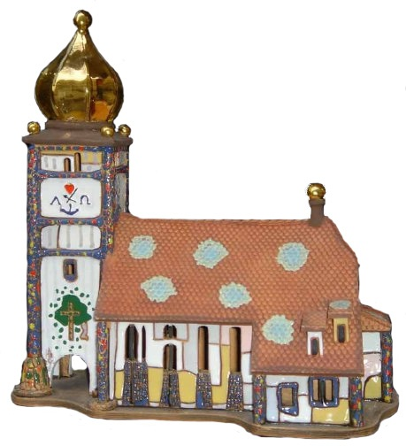 Miniature St. Barbara Church Bärnbach