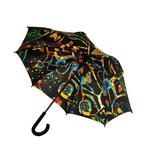 "Vibrant Colors for Rainy Days: Umbrella ""Dunkelbunt"""