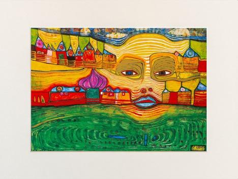 Mini Art Print with passe-partout IRINALAND