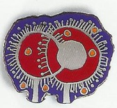 "Pin ""Soul Tree"" red-blue"