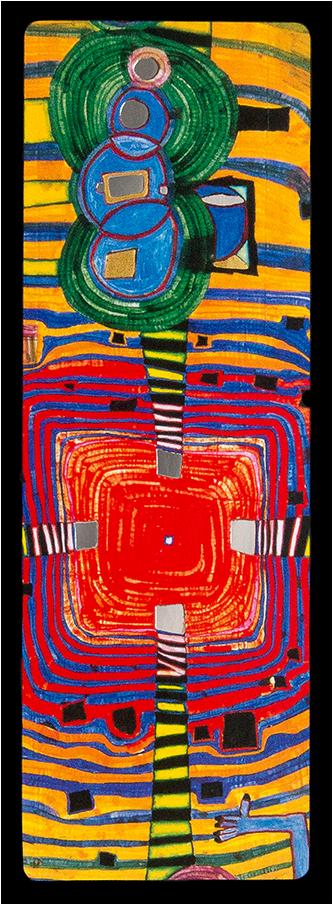 Set of 6 Hundertwasser-Bookmarks