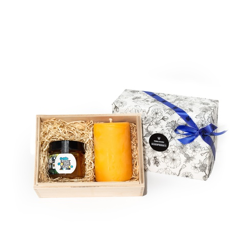 Gift Special Candle + Honey