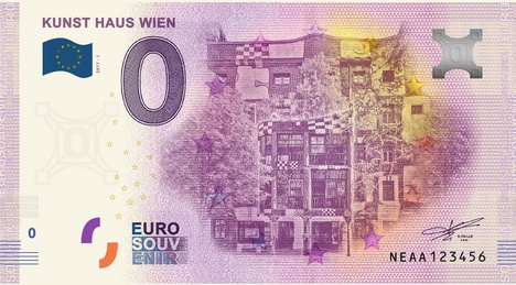 Zero-Euro-Notes KUNST HAUS WIEN 2019
