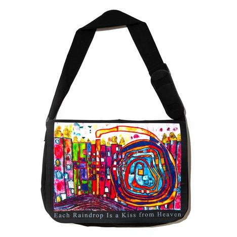 "Hundertwasser Laptop  Bag ""Who Has Eaten All My Windows"""