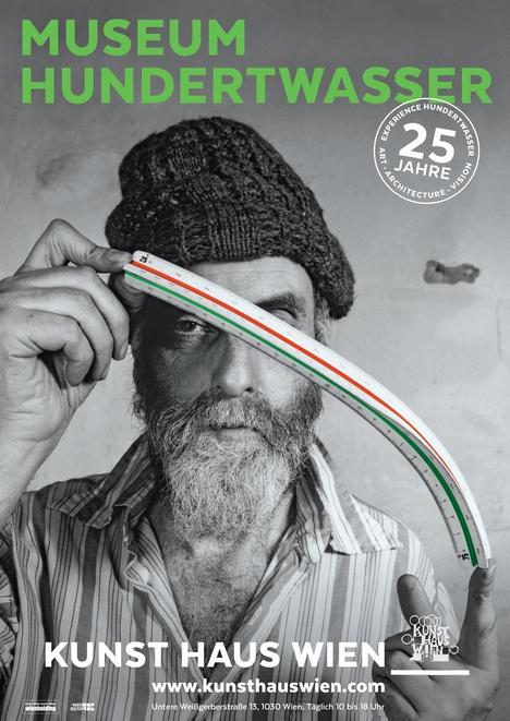 """Exhibition Poster """"25 Years KUNST HAUS WIEN"""""""