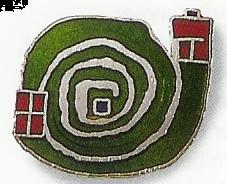 "Pin ""Spiral"" green"